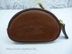 クレドラン DEBOR ROUNDZIP KEY COIN CASE:BROWN