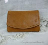 クレドラン DEMI BOX COIN CARD CASE:CAMEL