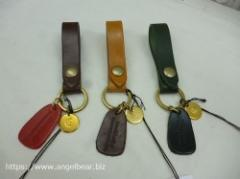 クレドラン ACCENT KEY HOLDER(CAMEL/BROWN/GREEN)