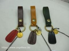 【人気!再入荷】クレドラン ACCENT KEY HOLDER(CAMEL/BROWN/GREEN)