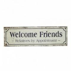 TIN PLATE Welcom Friends